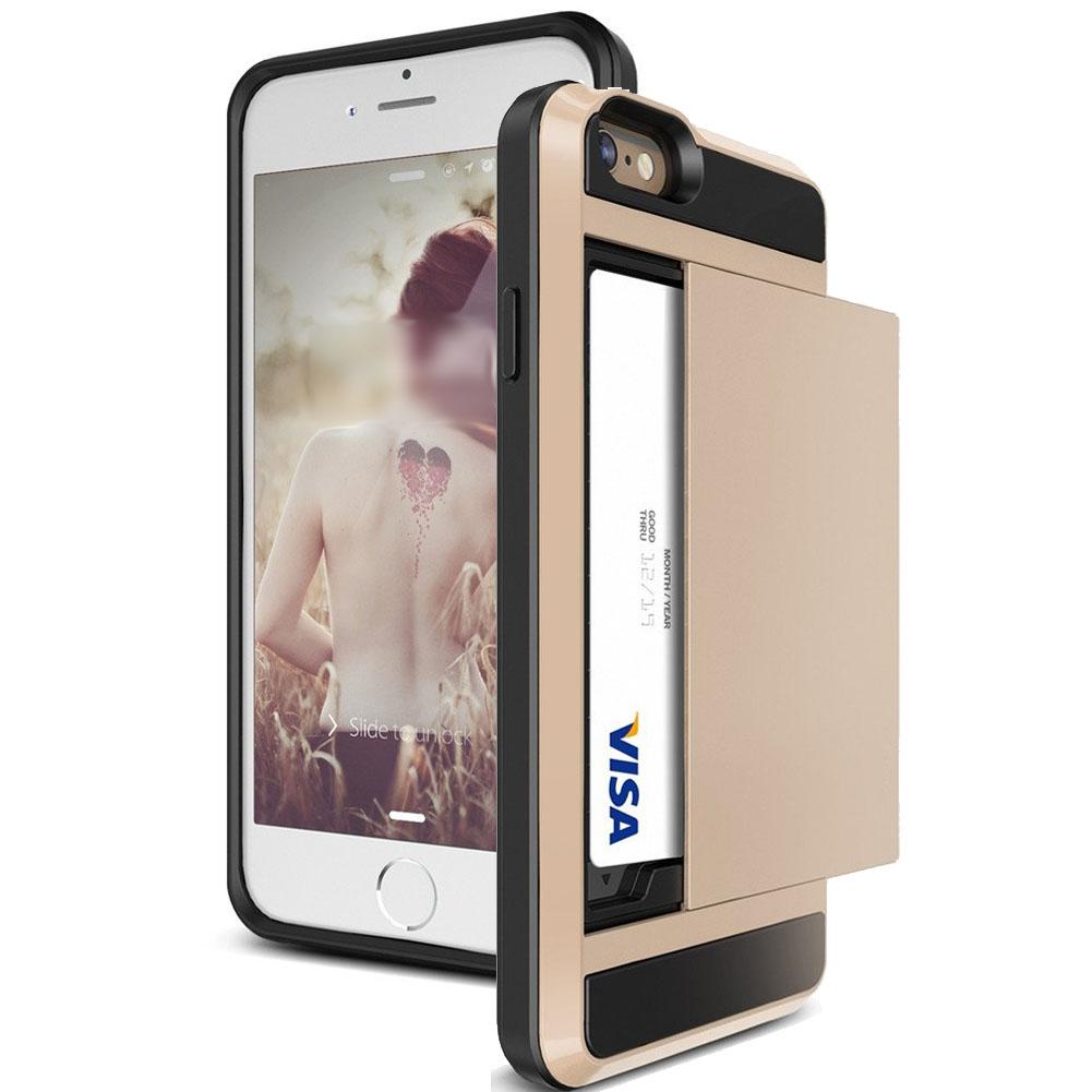 Card Pocket Slide ShockProof Slim Wallet Case for iPhone 5 ...