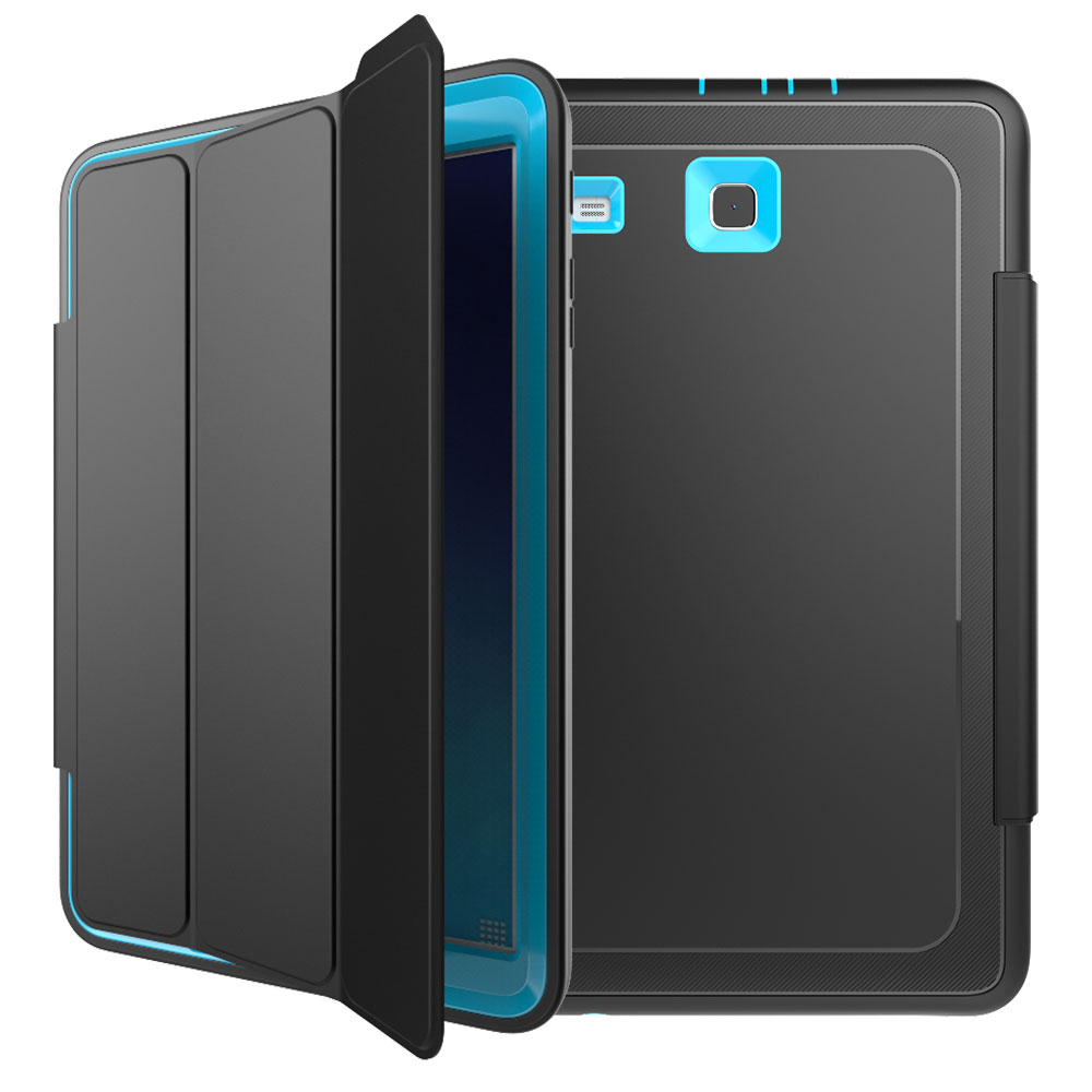 shockproof rubber case folio cover stand fr samsung galaxy. Black Bedroom Furniture Sets. Home Design Ideas