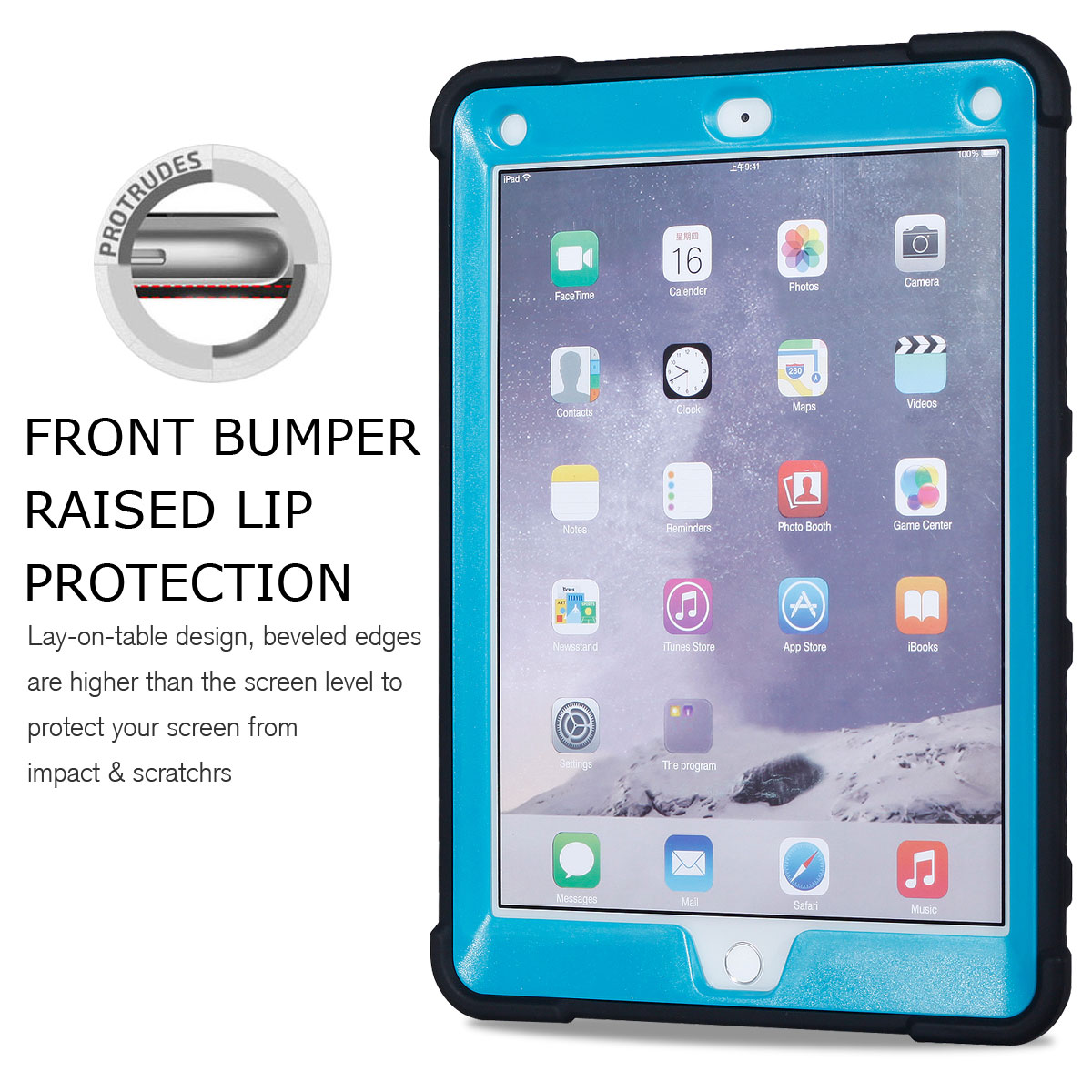 Shockproof Stand Rubber Hard Protective Cover Case For Apple iPad Mini 1 2 3 4