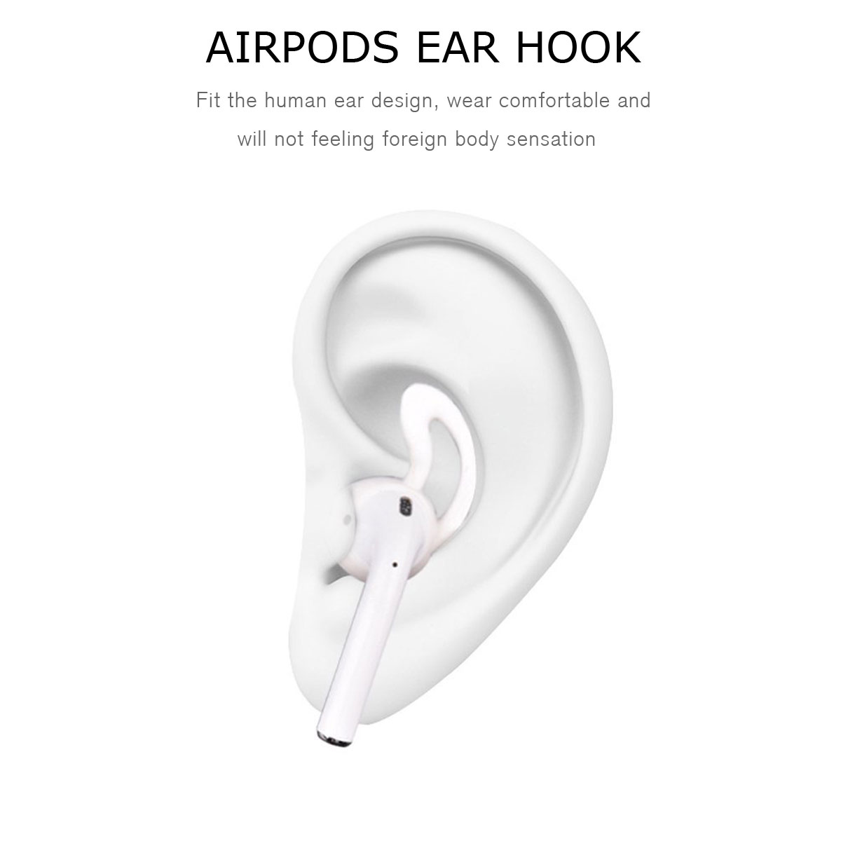 Silicone Ear Hooks Earbuds Holder For Apple AirPods AirPod