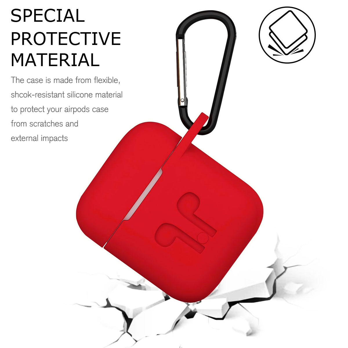 Waterproof Silicone Case Cover Skin Strap & Ear Hook For
