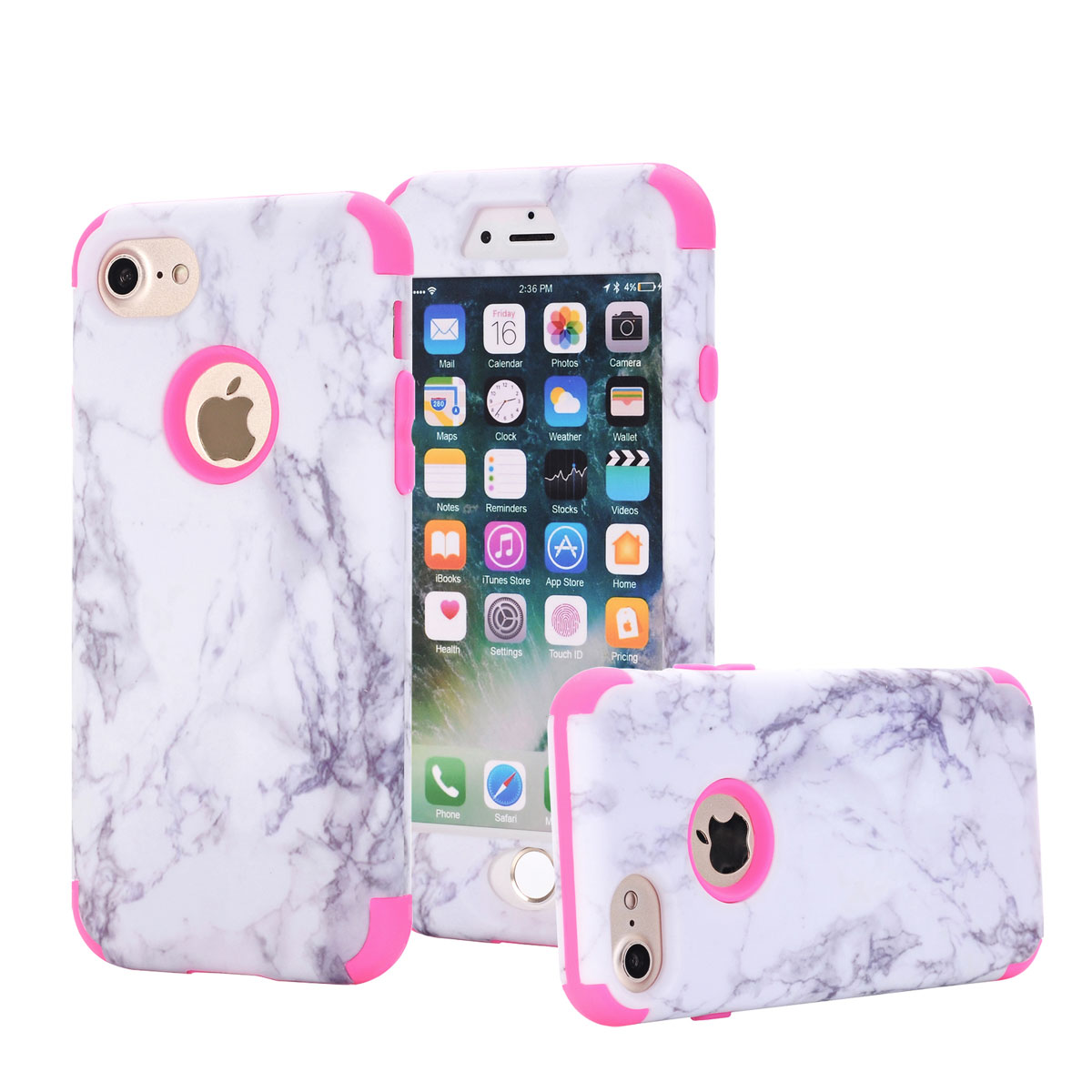 Granite Marble Shockproof Heavy Duty Rugged Hard Case ...
