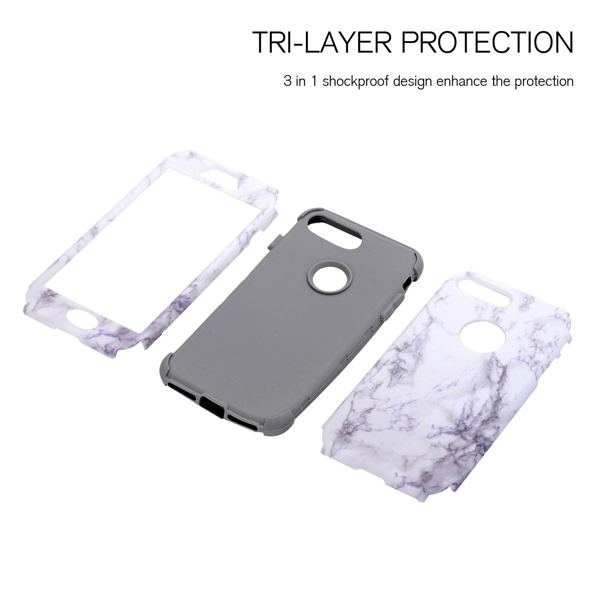 iphone 8 shockproof case marble