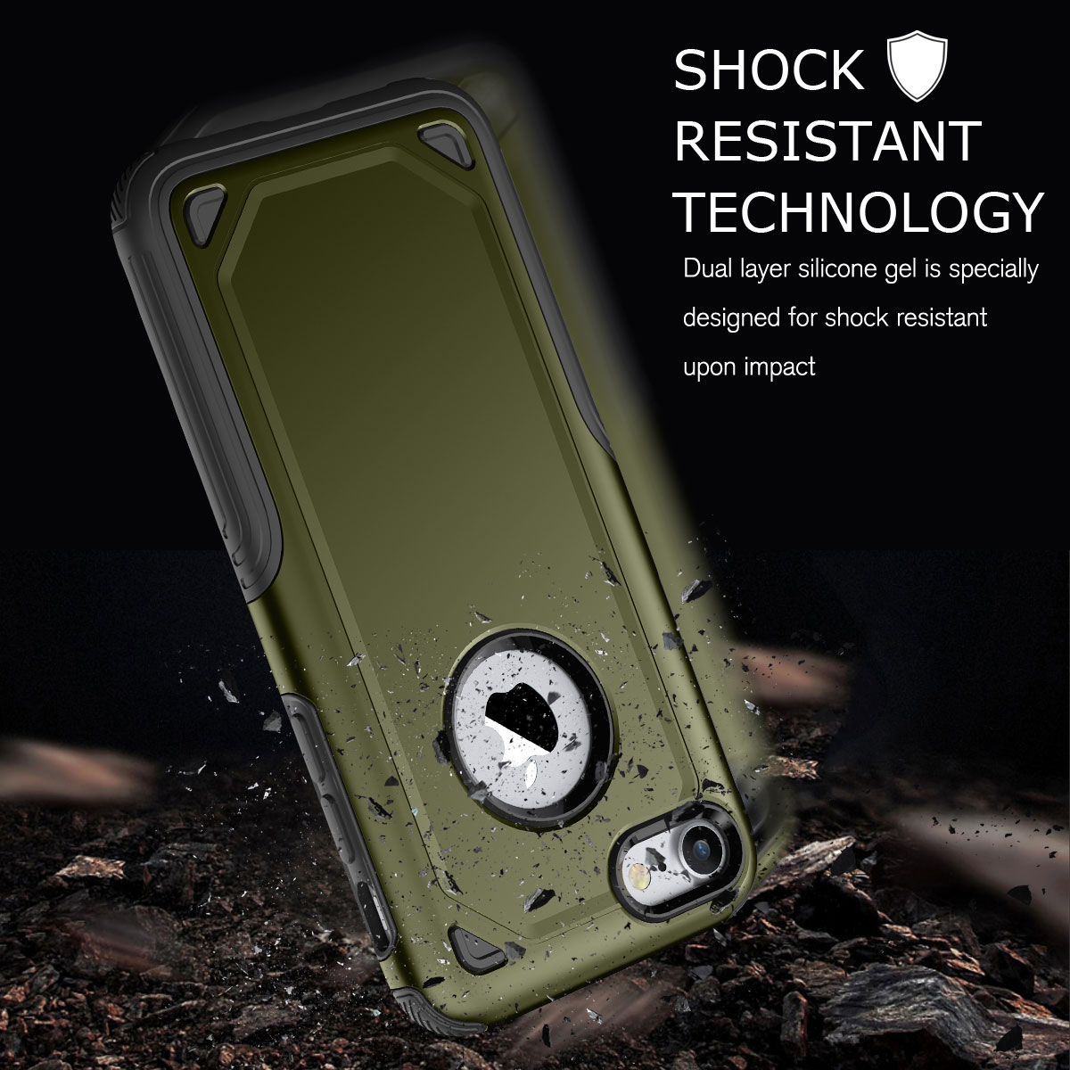 Shockproof Heavy Duty Bumper Hard Case Cover For Apple iPhone 6 6s 7 ... 2bbdbfbe3