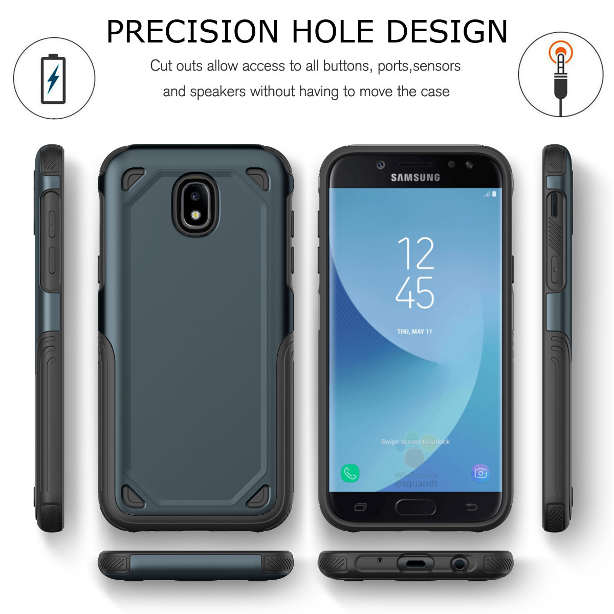 Details About Hybrid Shockproof Rugged Hard Case Cover For Samsung Galaxy J7 J5 J3 J2 Pro 2017