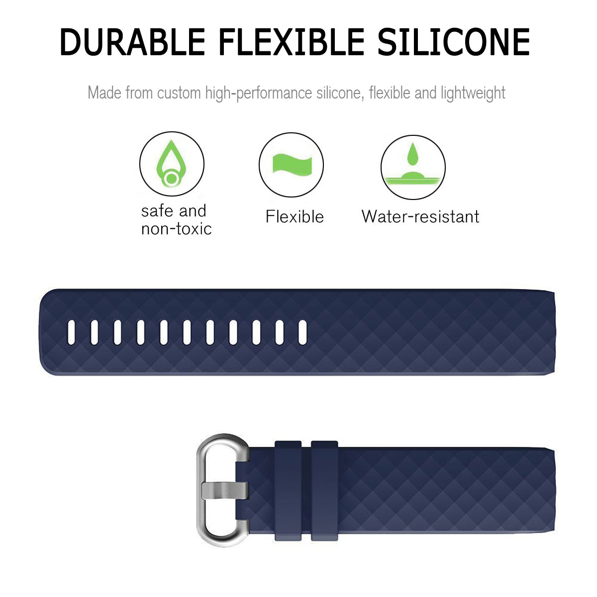 For-Fitbit-Charge-3-Silicone-Sports-Replacement-TPU-Watch-Band-Wristband-Strap miniature 15