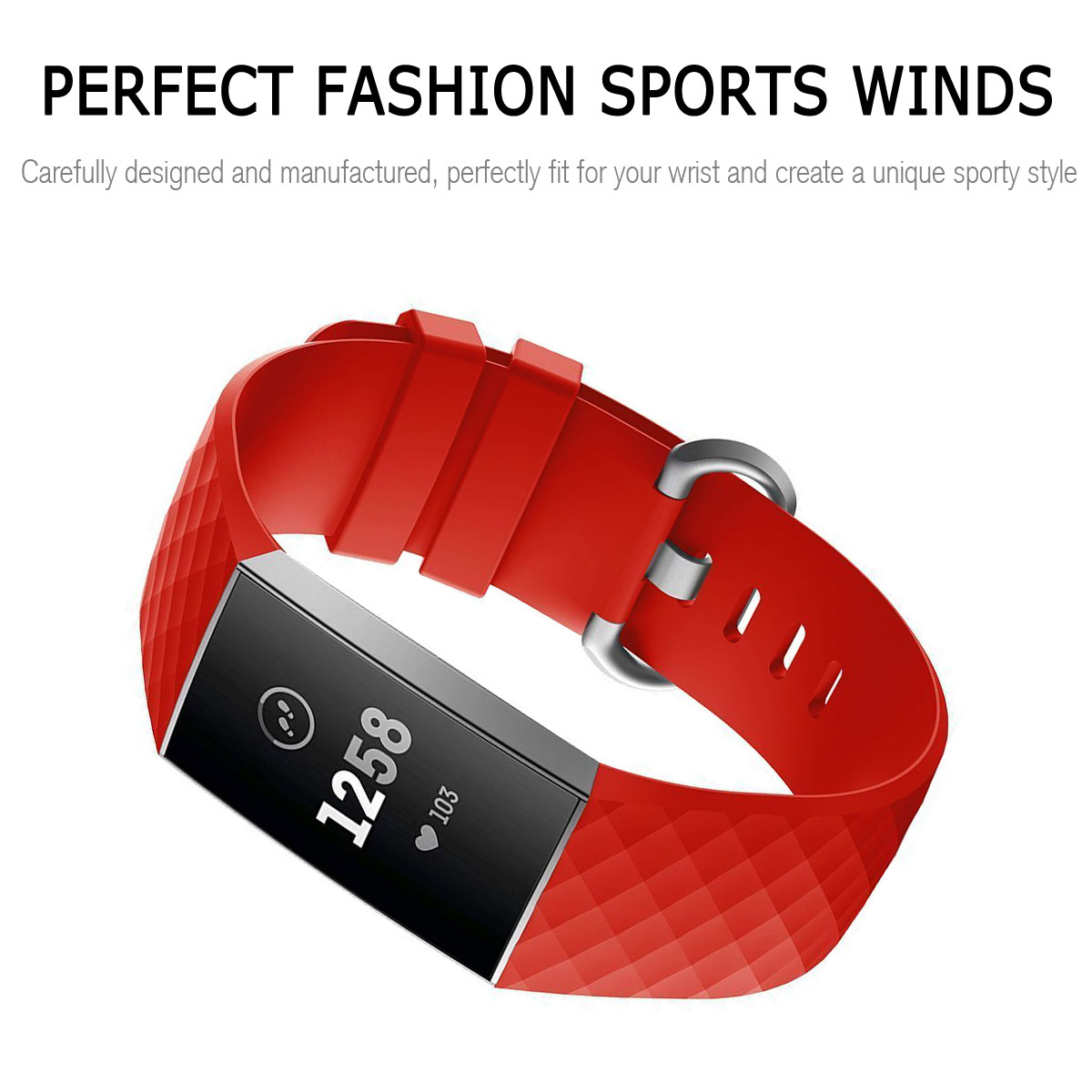 For-Fitbit-Charge-3-Silicone-Sports-Replacement-TPU-Watch-Band-Wristband-Strap miniature 37