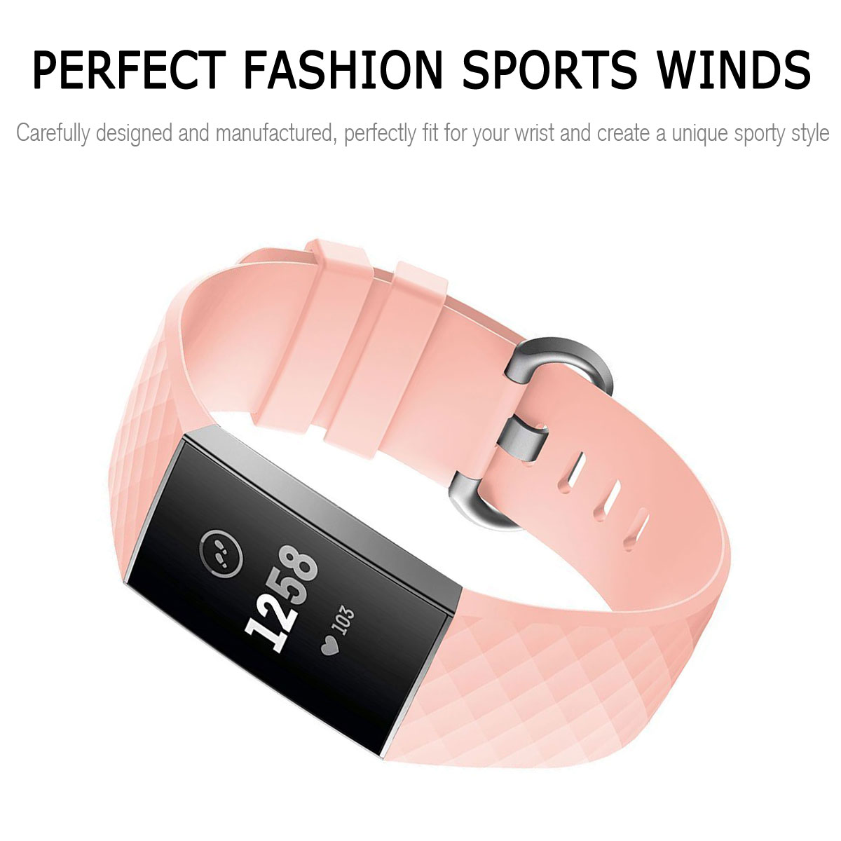 For-Fitbit-Charge-3-Silicone-Sports-Replacement-TPU-Watch-Band-Wristband-Strap miniature 51