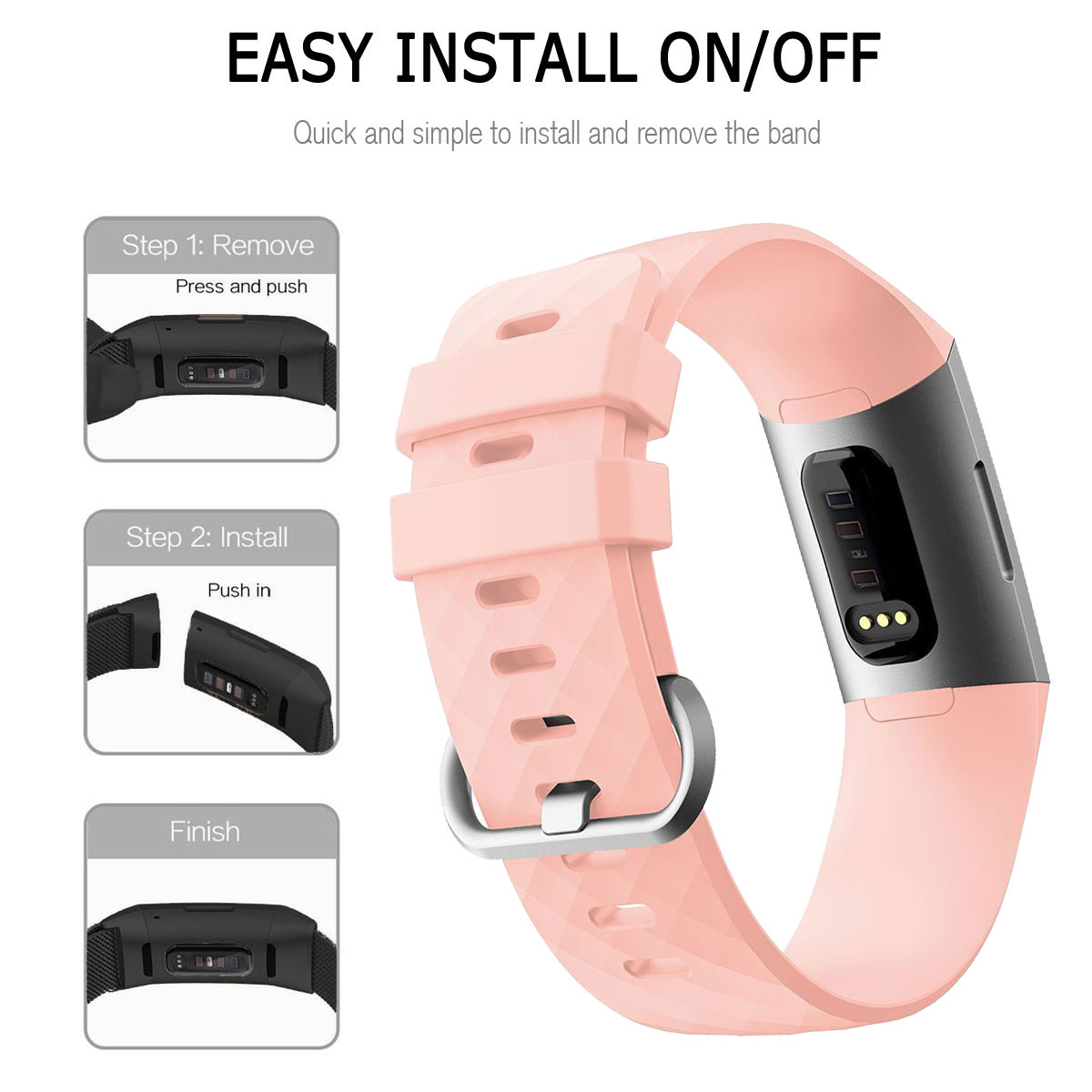 For-Fitbit-Charge-3-Silicone-Sports-Replacement-TPU-Watch-Band-Wristband-Strap miniature 53