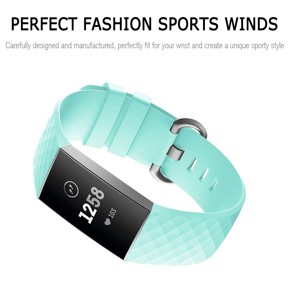 For-Fitbit-Charge-3-Silicone-Sports-Replacement-TPU-Watch-Band-Wristband-Strap miniature 58