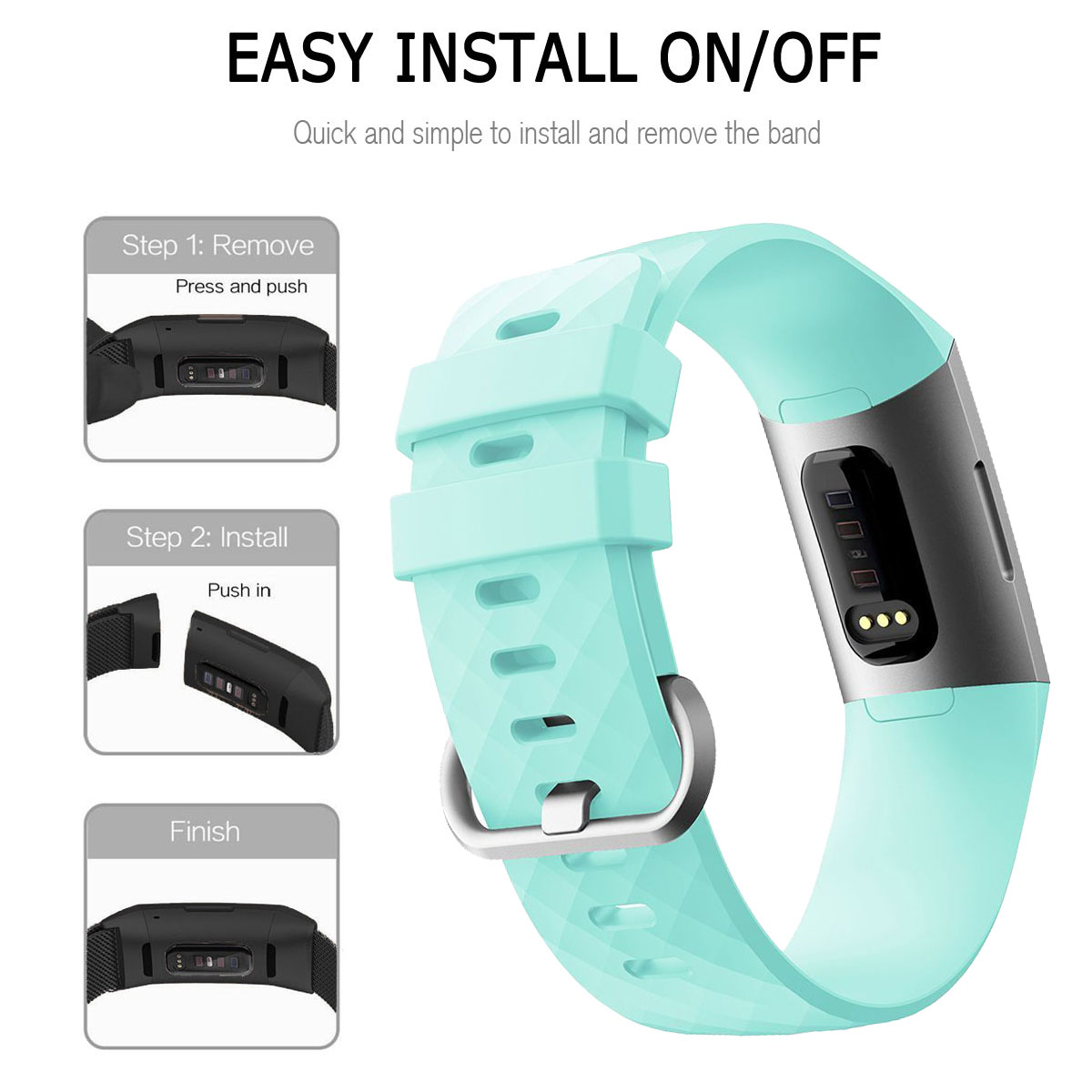 For-Fitbit-Charge-3-Silicone-Sports-Replacement-TPU-Watch-Band-Wristband-Strap miniature 60