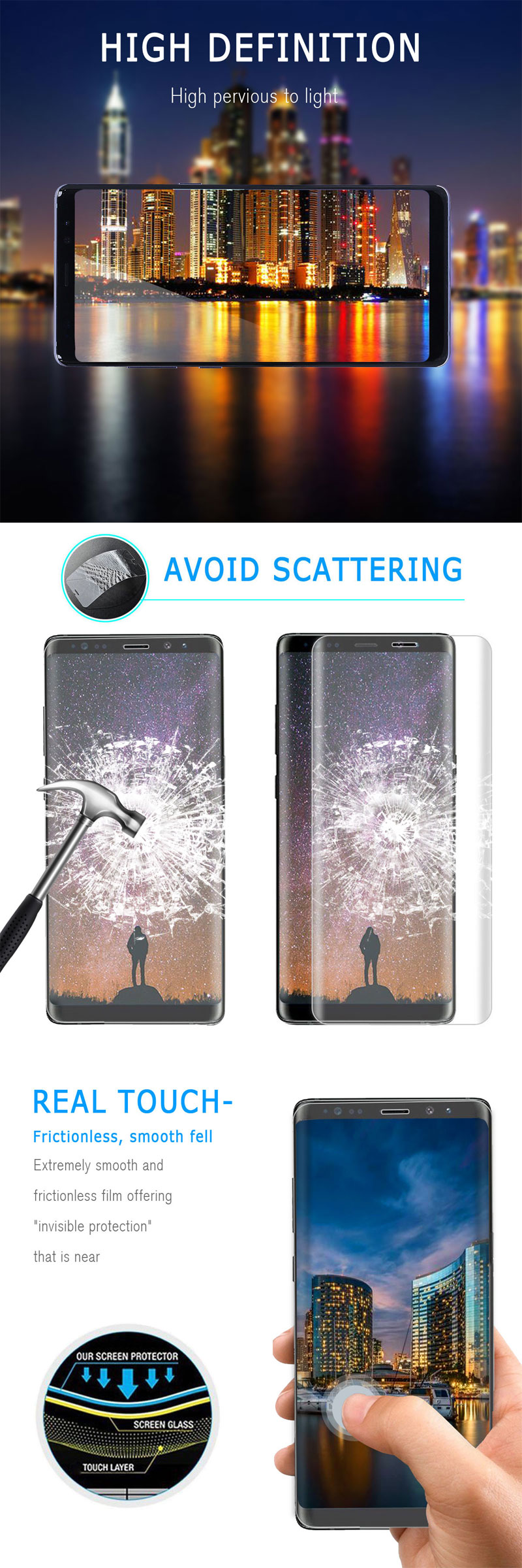 1 3 5 Pack X tempered glass screen protector ONLY