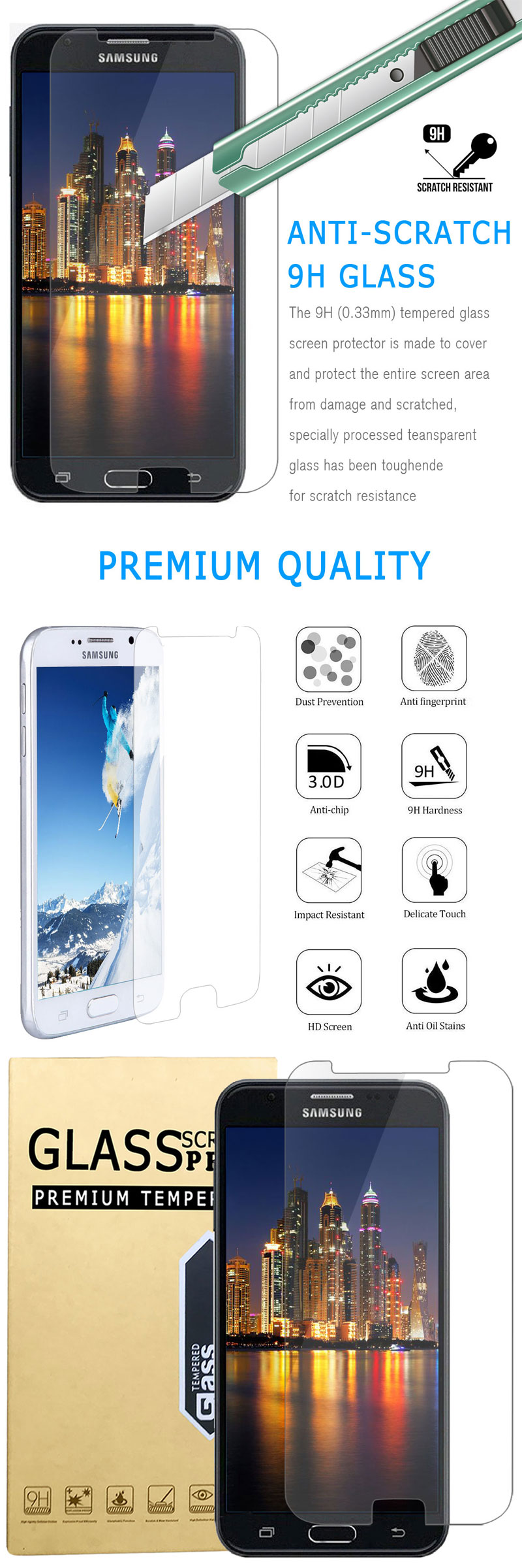 Tempered Glass Screen Protector ly the accessories is included the phone is NOT included