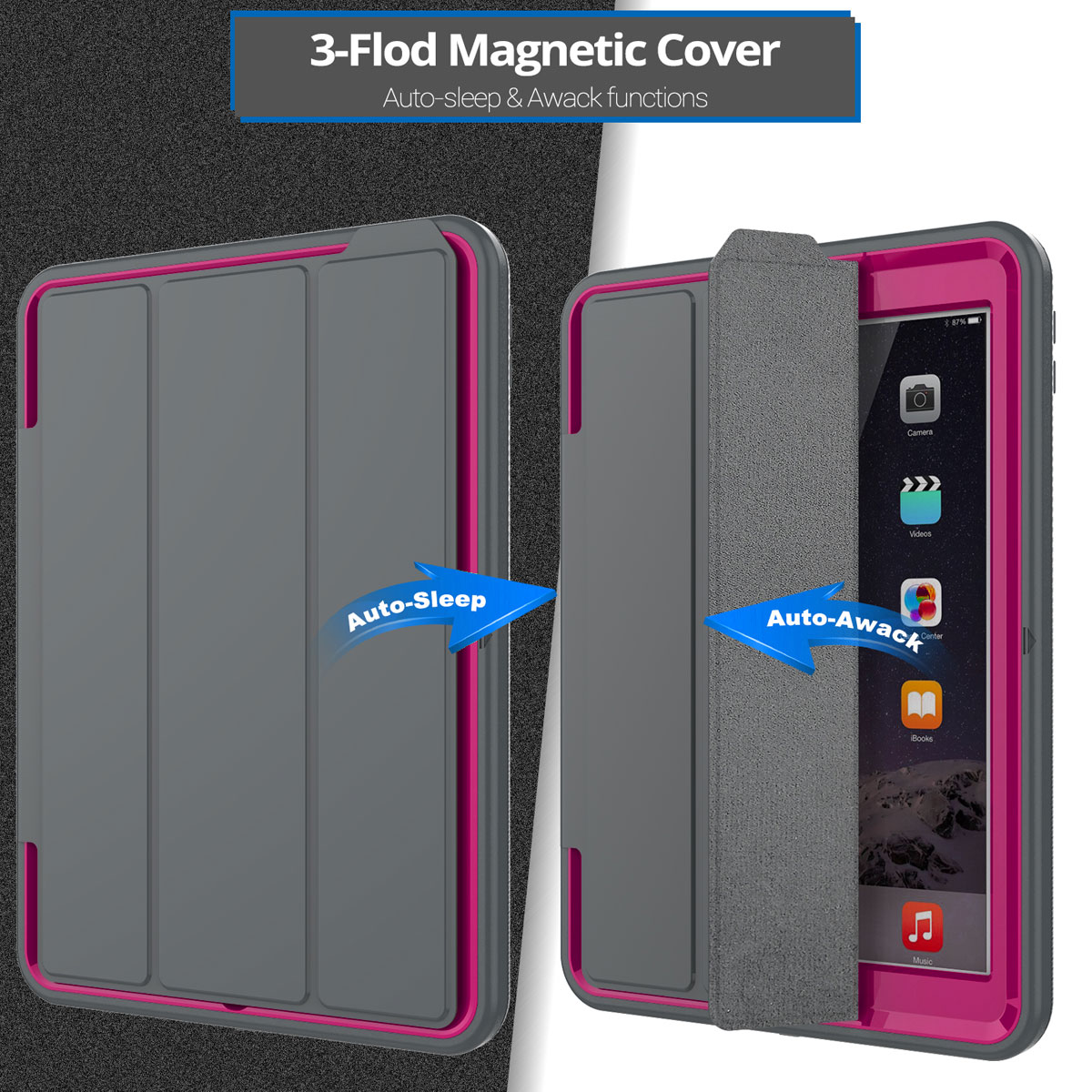 heavy duty smart cover shockproof case for apple ipad 9 7. Black Bedroom Furniture Sets. Home Design Ideas
