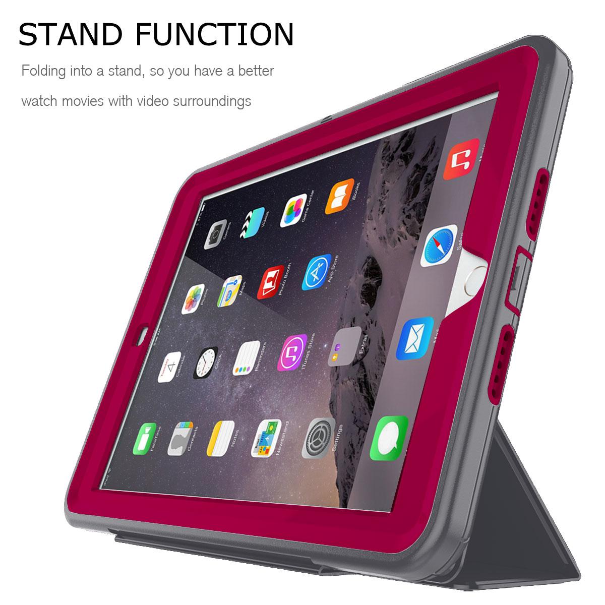 heavy duty smart cover shockproof case for apple ipad 9 7. Black Bedroom Furniture Sets. Home Design Ideas
