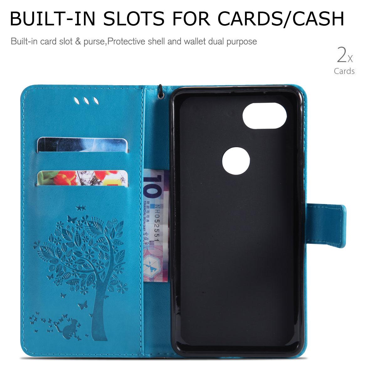 Magnetic-Leather-Credit-Card-Holder-Flip-Case-Cover-For-Google-Pixel-2-2-XL thumbnail 20