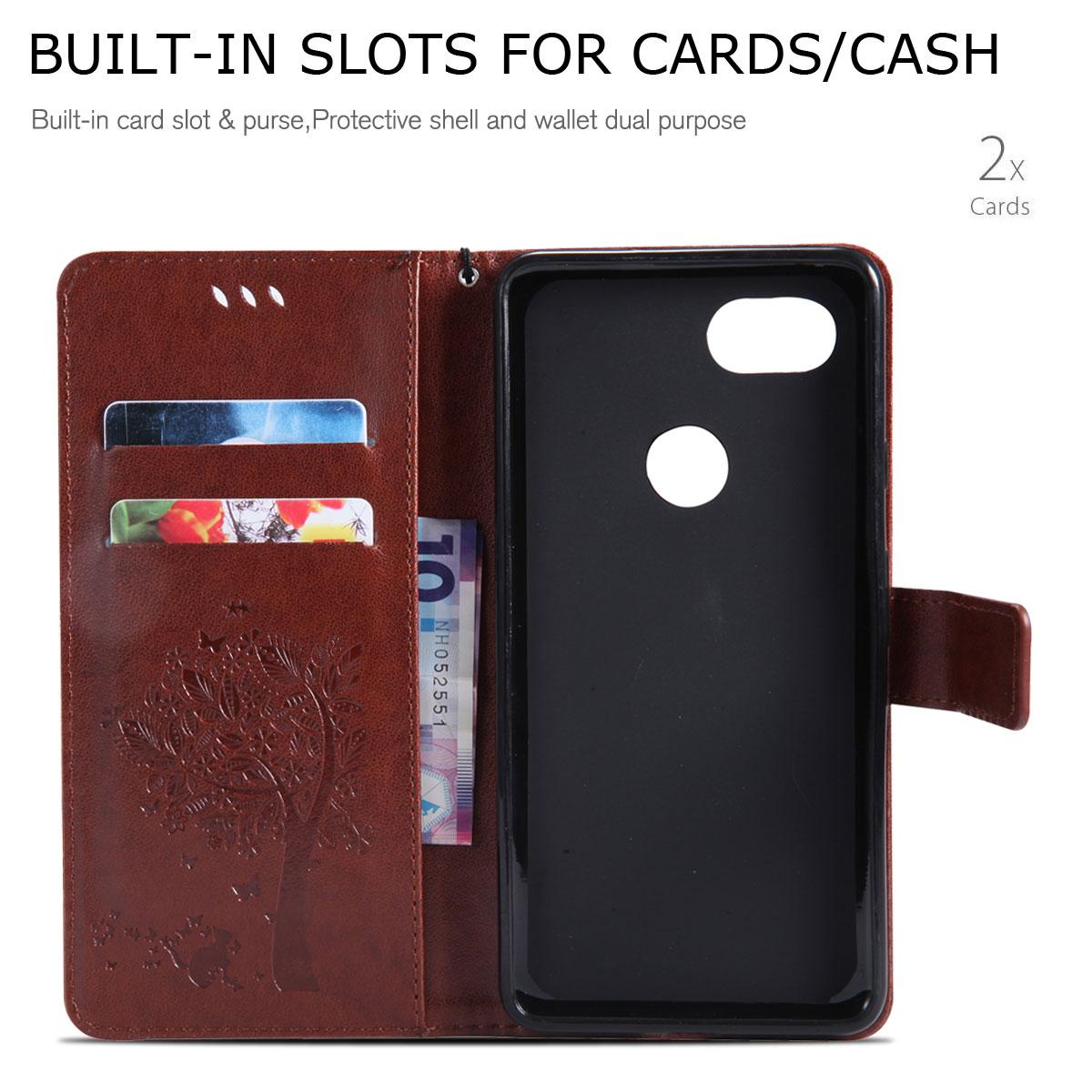 Magnetic-Leather-Credit-Card-Holder-Flip-Case-Cover-For-Google-Pixel-2-2-XL thumbnail 27