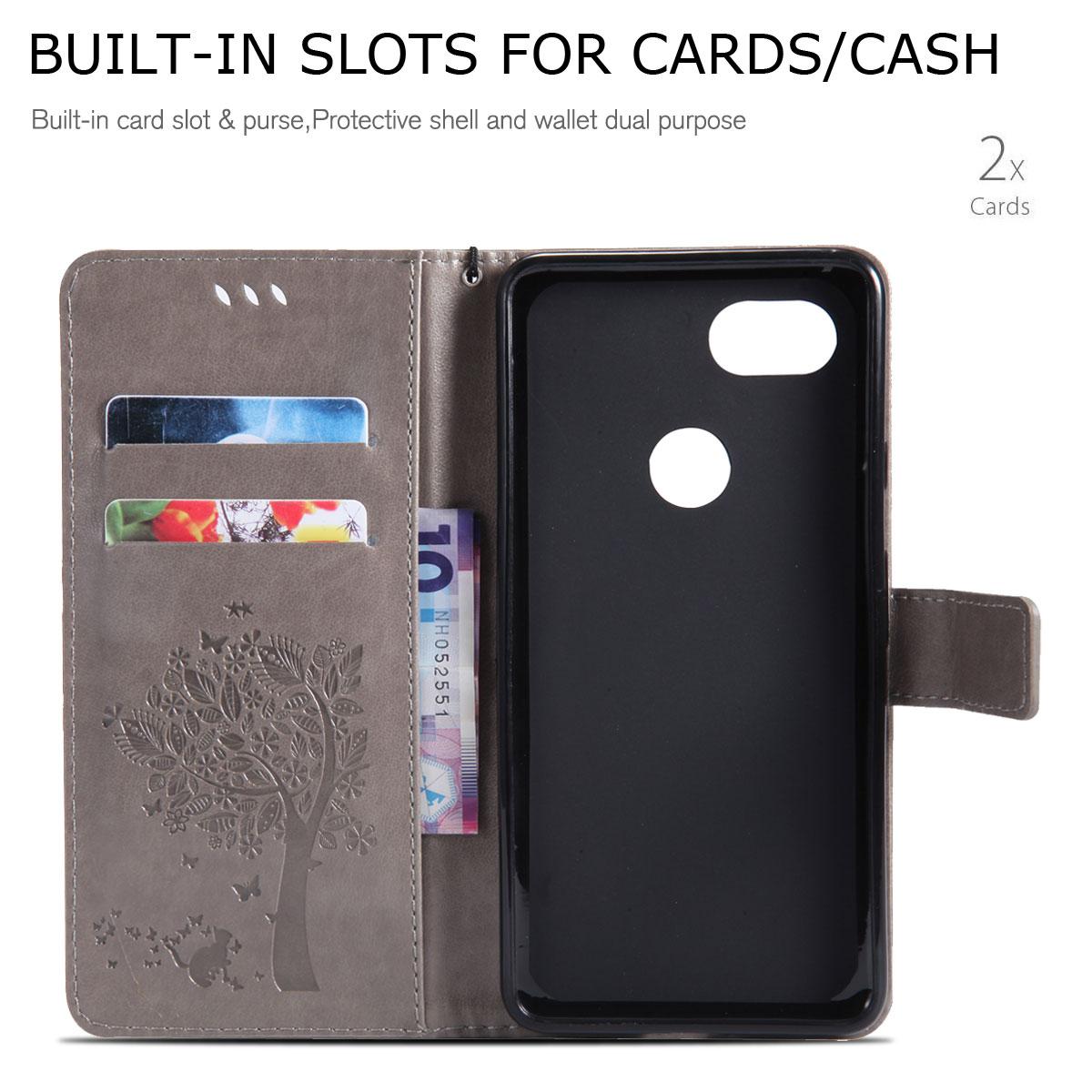 Magnetic-Leather-Credit-Card-Holder-Flip-Case-Cover-For-Google-Pixel-2-2-XL thumbnail 34