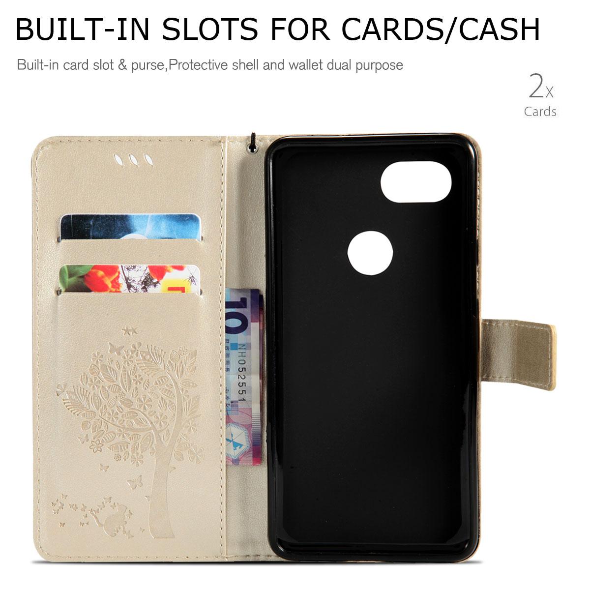 Magnetic-Leather-Credit-Card-Holder-Flip-Case-Cover-For-Google-Pixel-2-2-XL thumbnail 48