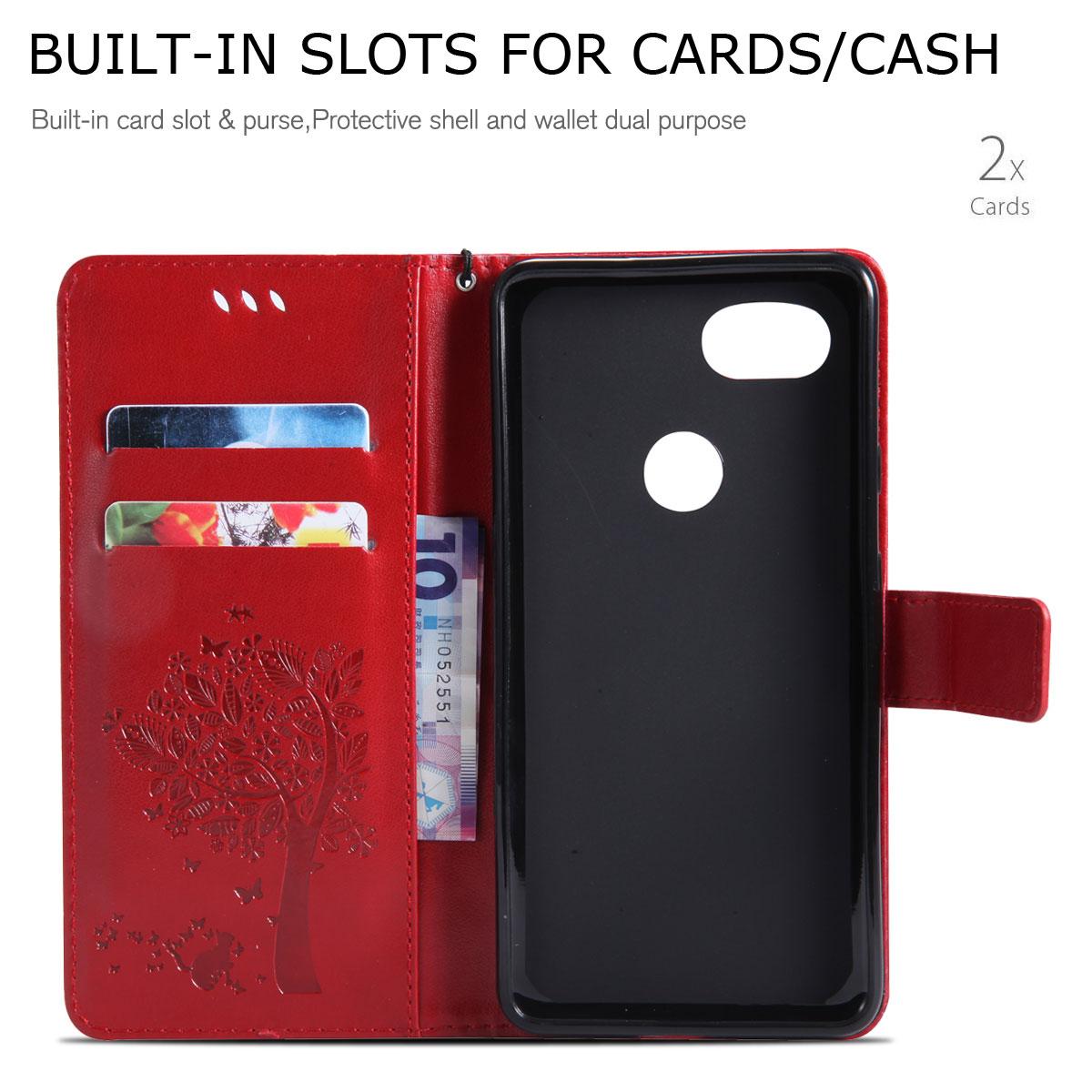 Magnetic-Leather-Credit-Card-Holder-Flip-Case-Cover-For-Google-Pixel-2-2-XL thumbnail 62