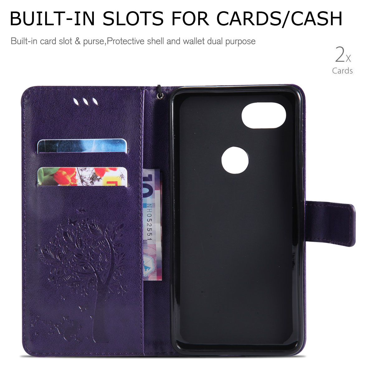 Magnetic-Leather-Credit-Card-Holder-Flip-Case-Cover-For-Google-Pixel-2-2-XL thumbnail 69