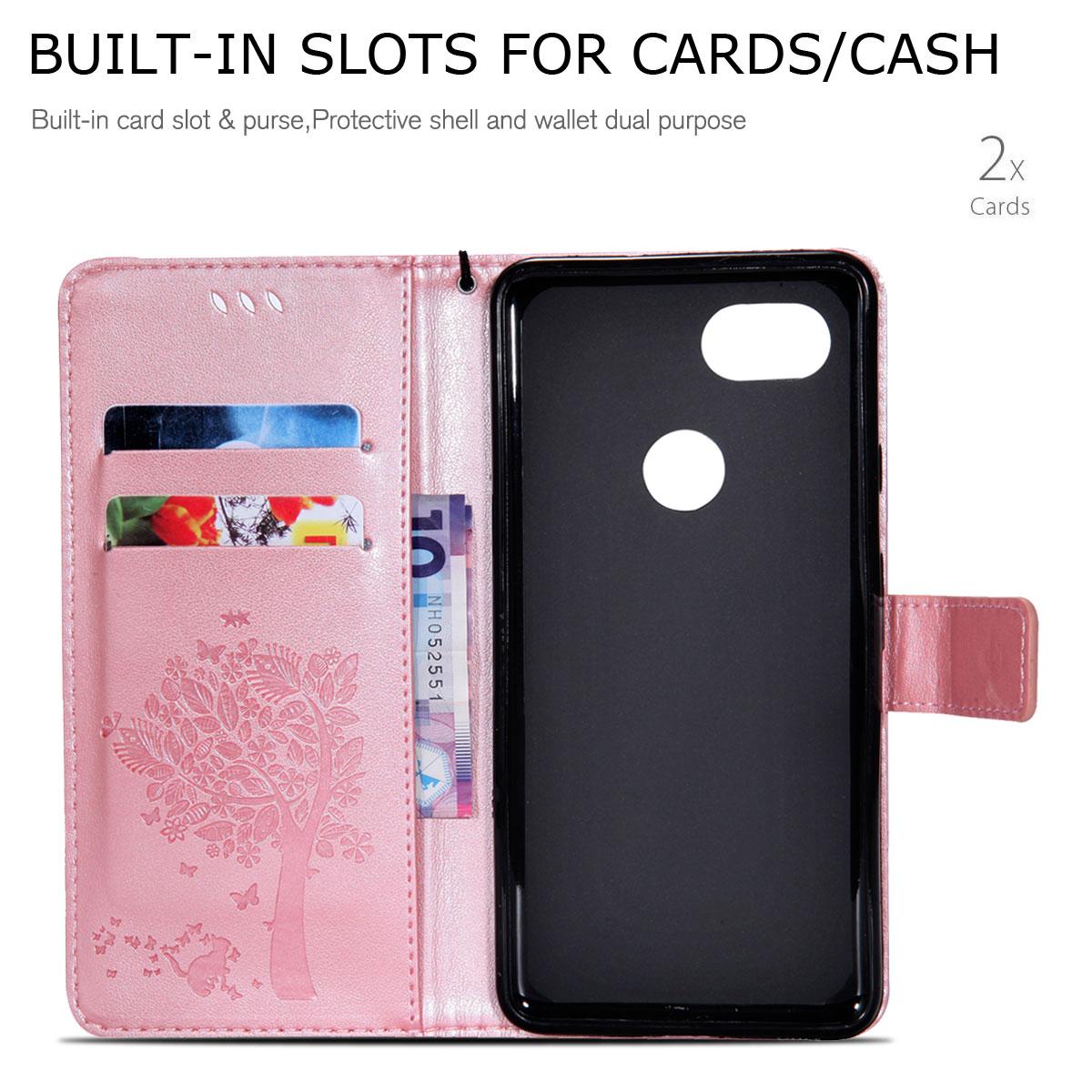 Magnetic-Leather-Credit-Card-Holder-Flip-Case-Cover-For-Google-Pixel-2-2-XL thumbnail 90