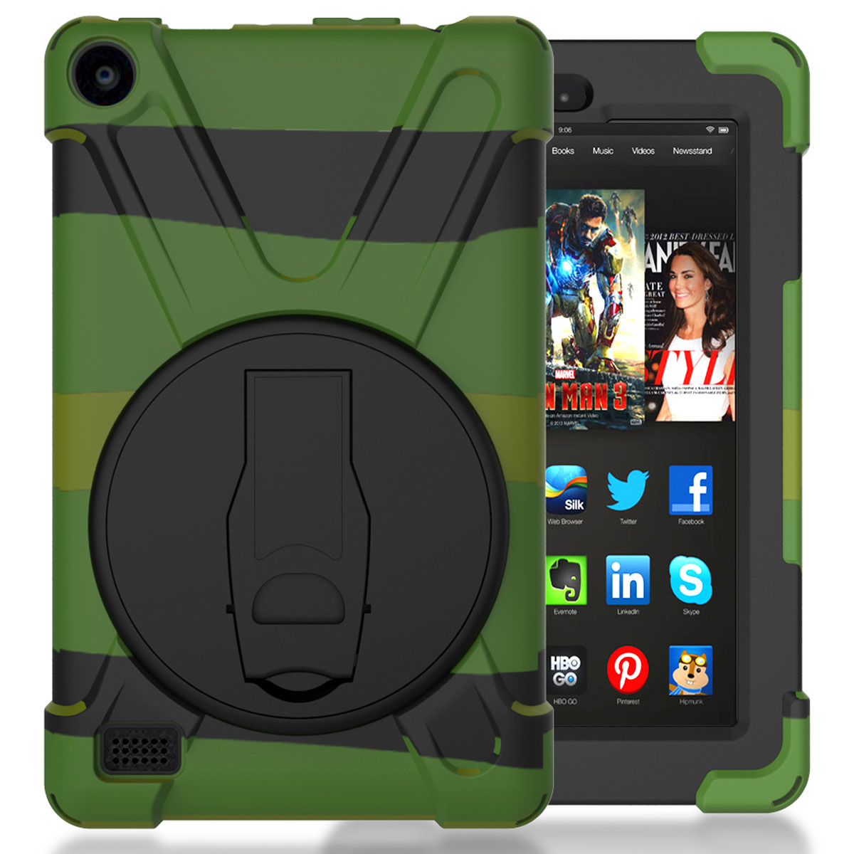 Shockproof armor hard stand case cover for amazon kindle for Amazon casa