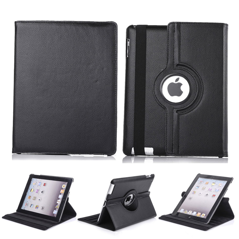360 rotating new leather smart stand case cover for ipad 2. Black Bedroom Furniture Sets. Home Design Ideas
