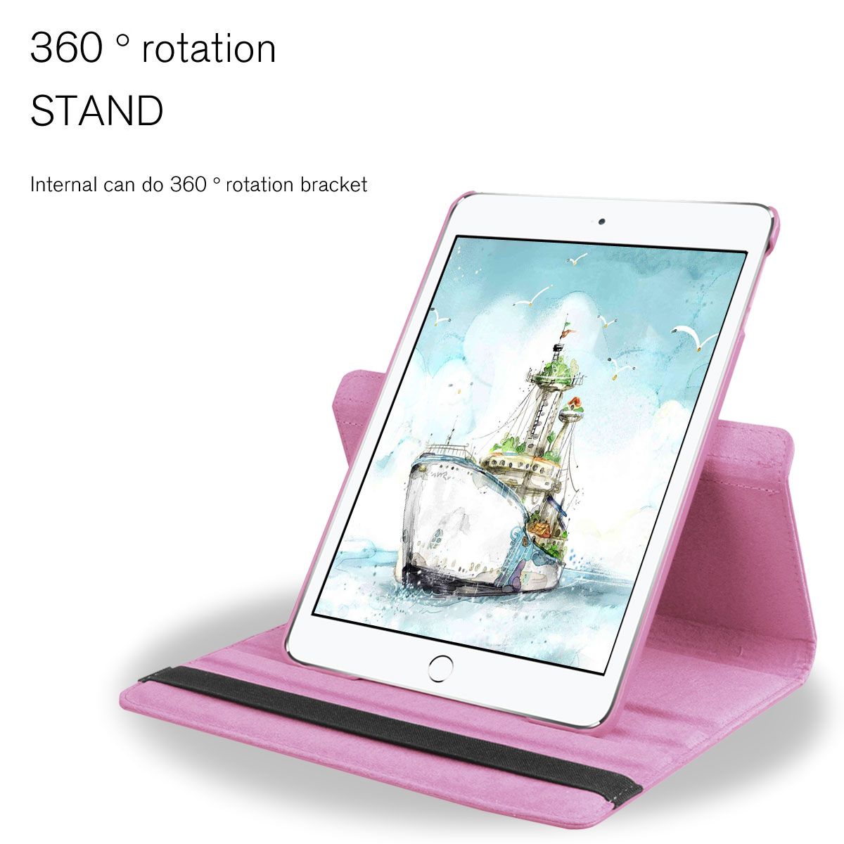 Tablet & Ebook Reader Accs New Ipad 5th Gen 2017 9.7 Inch 360 Rotating A1822 A1823 Case Stand Cover Smart