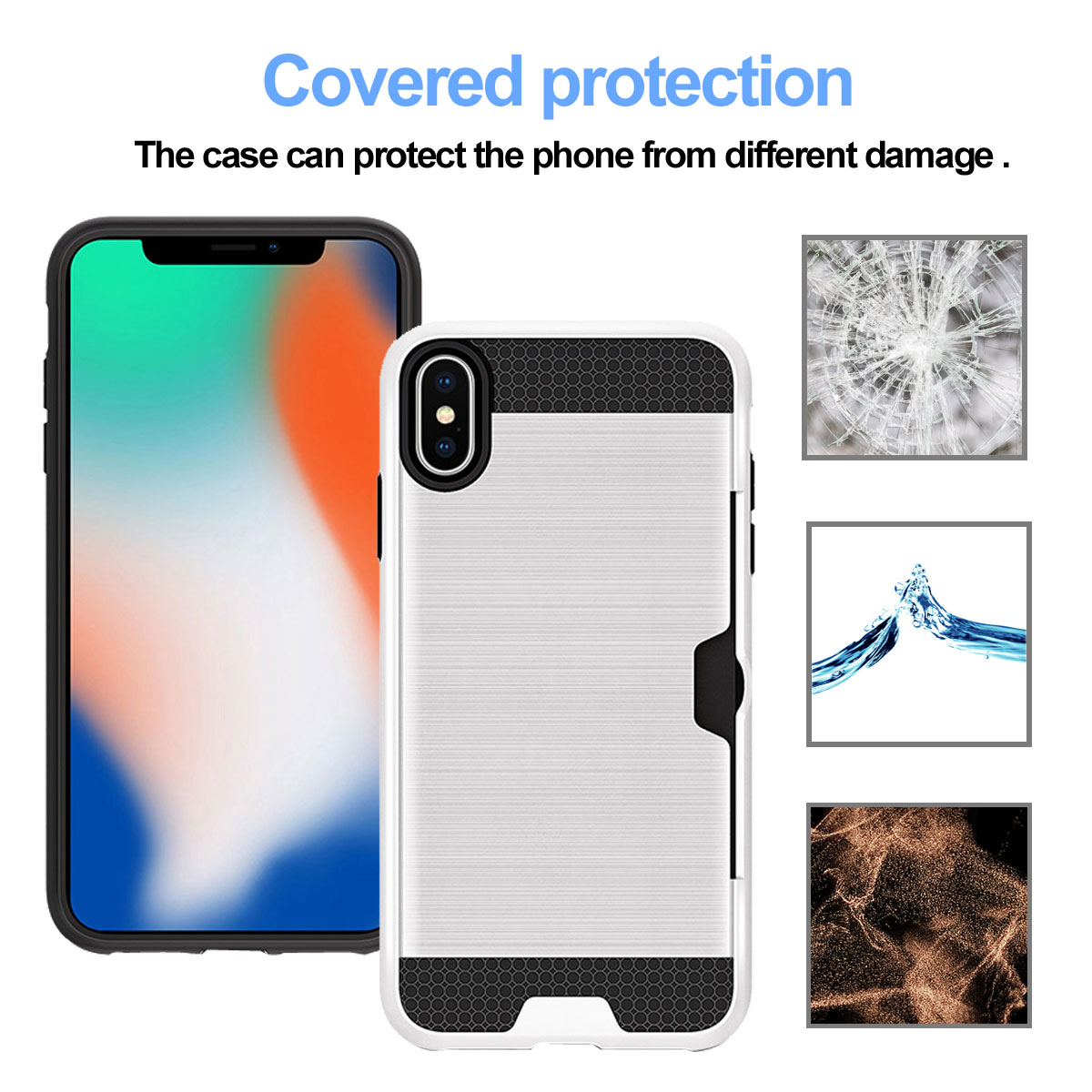 For iPhone XR XS Max XS X Wallet Pouch Rugged Case Cover