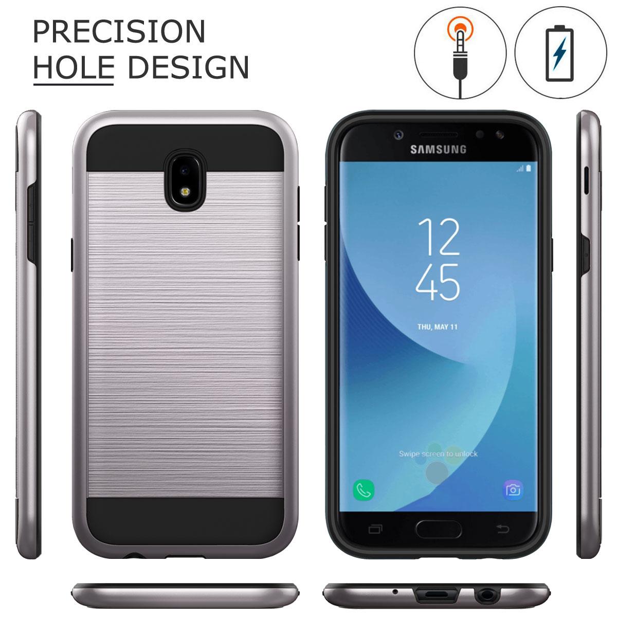 Shockproof-Hybrid-Brushed-Hard-Back-Case-For-Samsung-