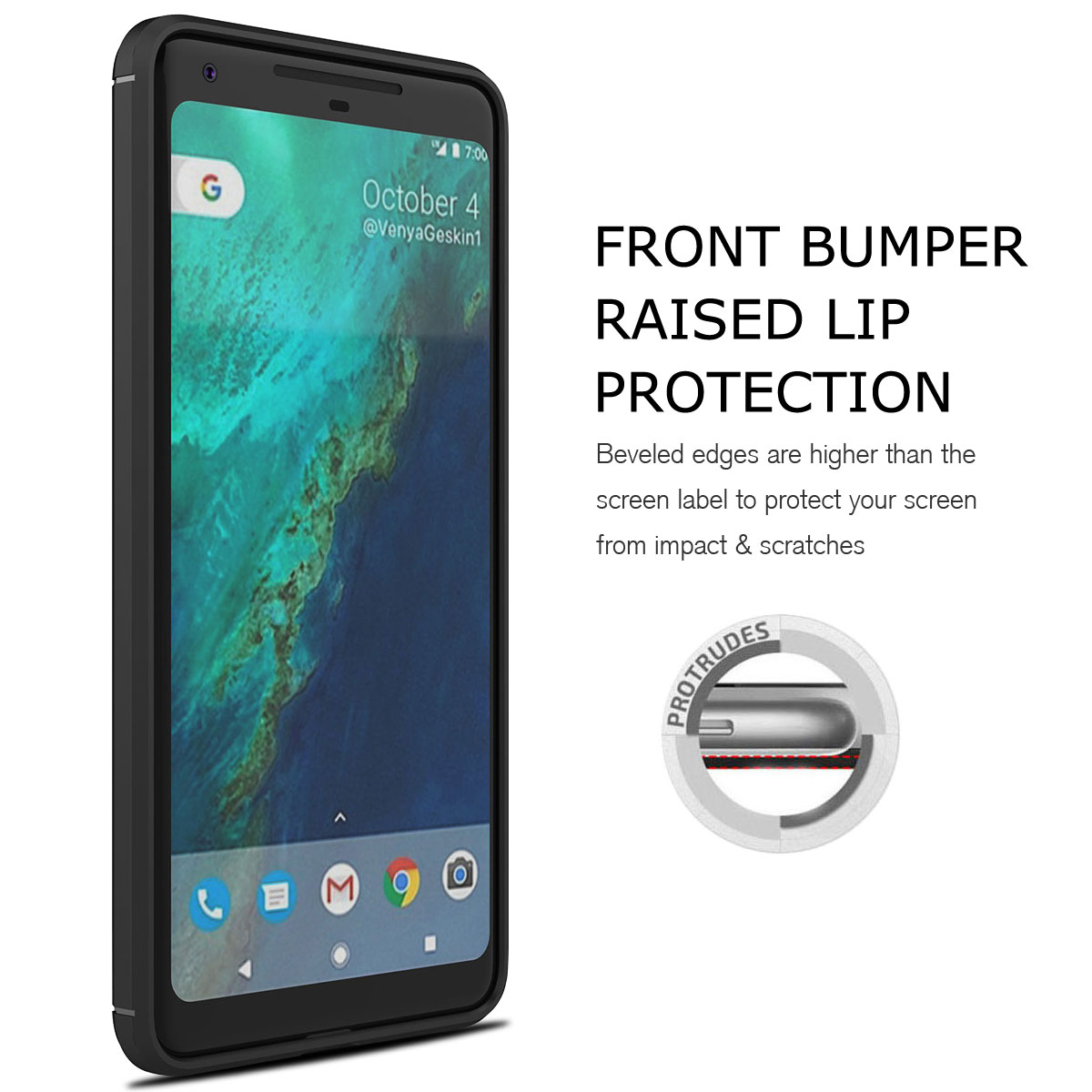 For-Google-Pixel-2-2XL-Ultra-Thin-Rubber-Leather-Bumper-TPU-Shockproof-Case thumbnail 15