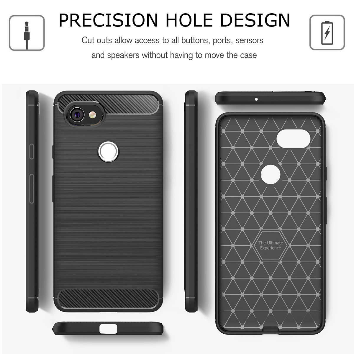 For-Google-Pixel-2-2XL-Ultra-Thin-Rubber-Leather-Bumper-TPU-Shockproof-Case thumbnail 18
