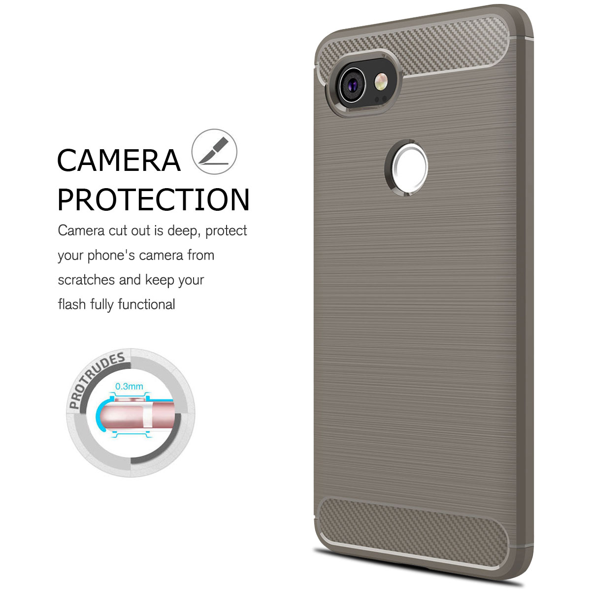 For-Google-Pixel-2-2XL-Ultra-Thin-Rubber-Leather-Bumper-TPU-Shockproof-Case thumbnail 21