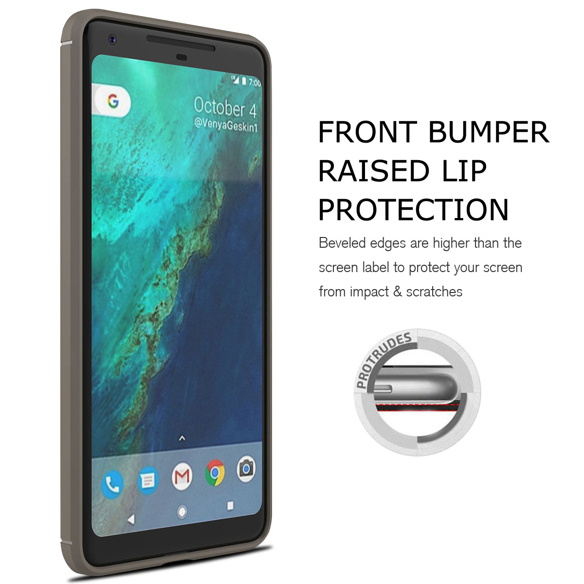 For-Google-Pixel-2-2XL-Ultra-Thin-Rubber-Leather-Bumper-TPU-Shockproof-Case thumbnail 22