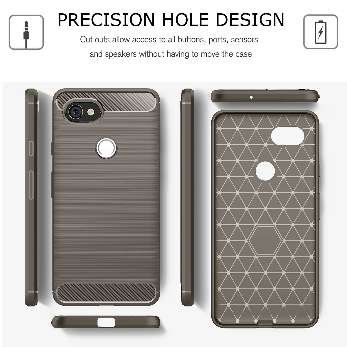 For-Google-Pixel-2-2XL-Ultra-Thin-Rubber-Leather-Bumper-TPU-Shockproof-Case thumbnail 25