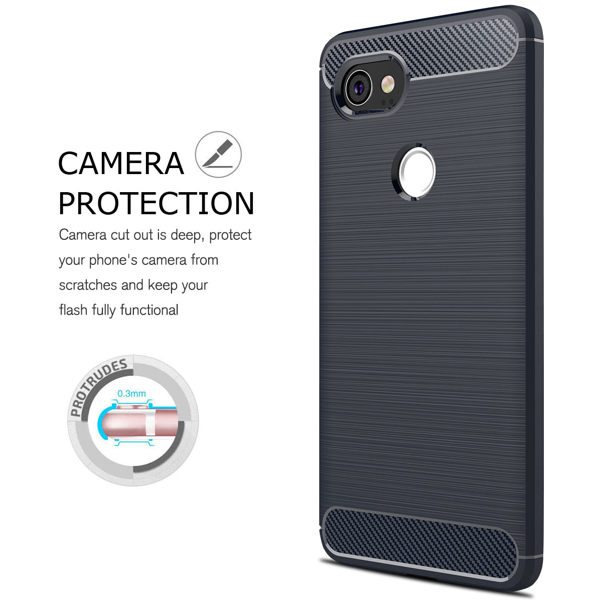 For-Google-Pixel-2-2XL-Ultra-Thin-Rubber-Leather-Bumper-TPU-Shockproof-Case thumbnail 28