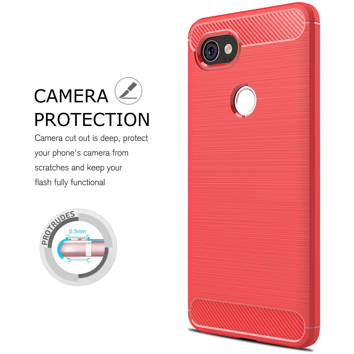 For-Google-Pixel-2-2XL-Ultra-Thin-Rubber-Leather-Bumper-TPU-Shockproof-Case thumbnail 35