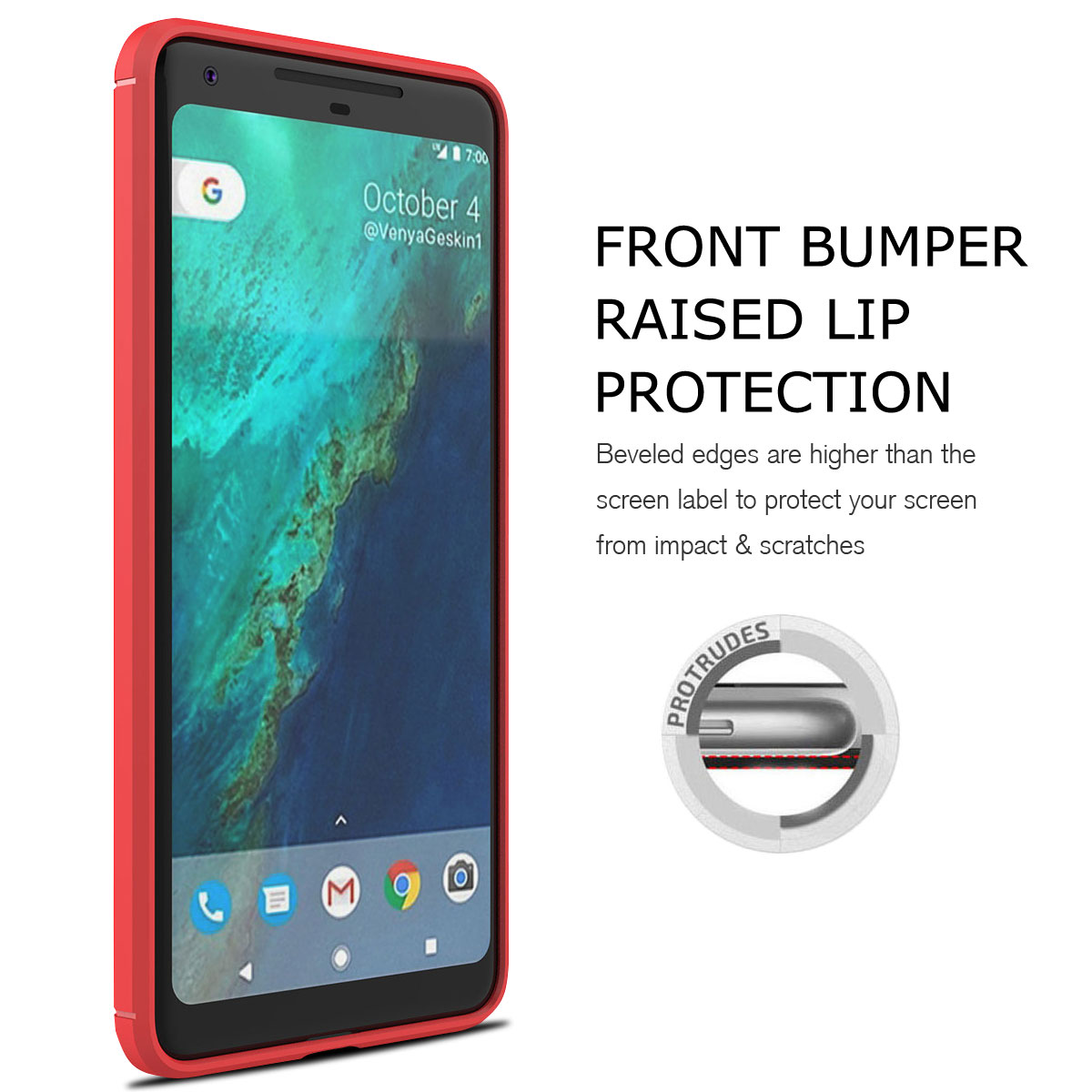 For-Google-Pixel-2-2XL-Ultra-Thin-Rubber-Leather-Bumper-TPU-Shockproof-Case thumbnail 36
