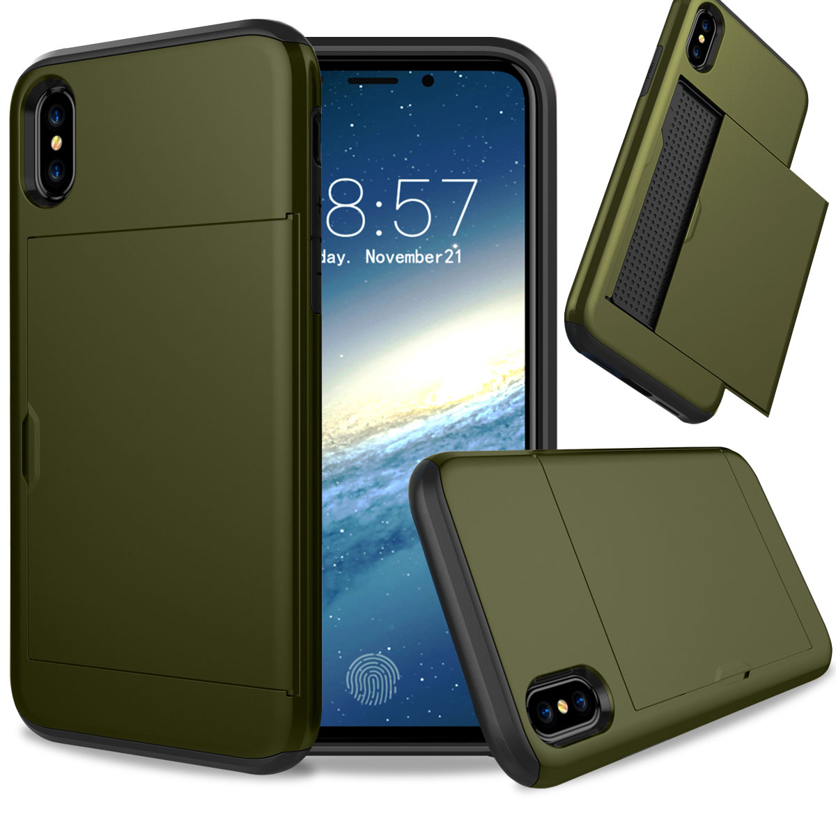 iphone protective cases for apple iphone x 10 thin shockproof credit card holder 12164