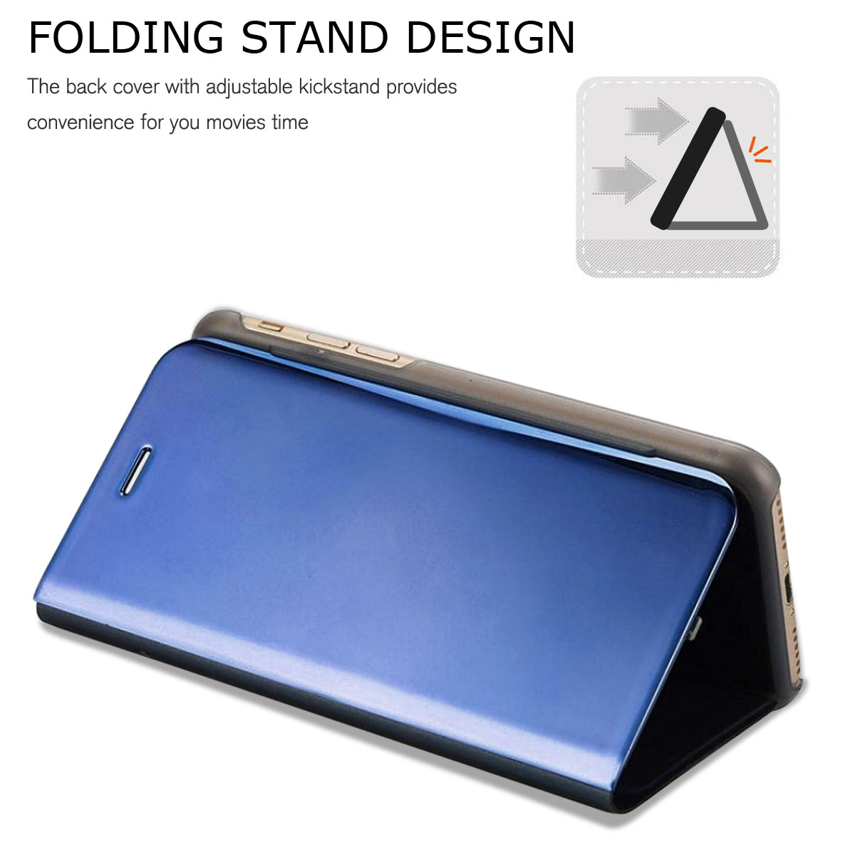 best website 59ff3 71159 Details about New Design Touch Mirror Smart Flip Holder Stand Leather Case  For Apple iPhone X