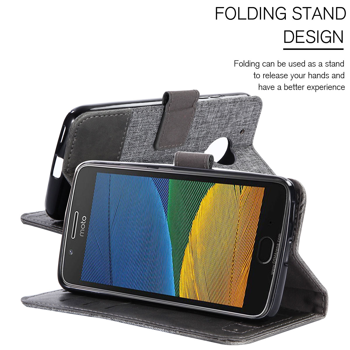For-Motorola-Moto-G5-G5-Plus-Magnetic-Flip-Leather-Shockproof-Card-Holder-Case