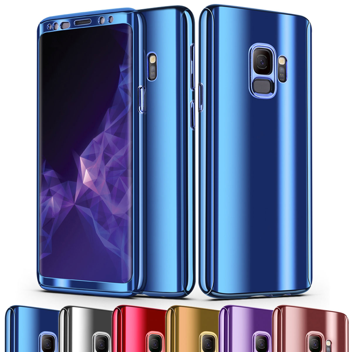 newest 3a562 cfad4 Details about Luxury Aluminium Metal Mirror Case PC Body Cover For Samsung  Galaxy S9 / S9 Plus