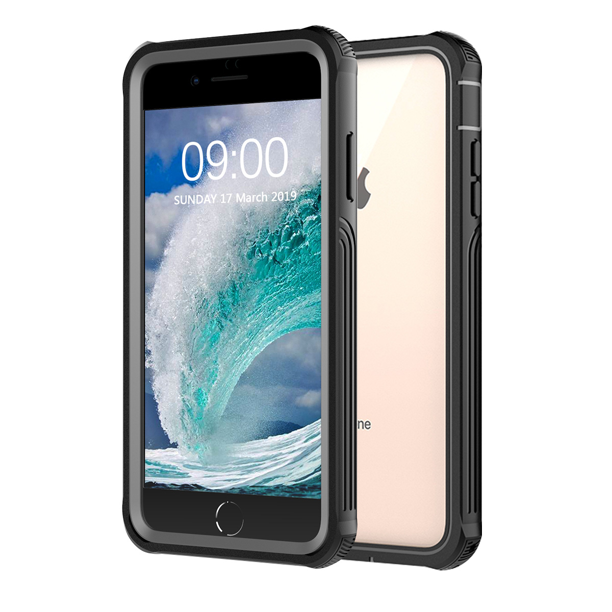 on sale 2ea44 0e375 Details about Waterproof Phone Case Cover with Screen Protector For Apple  iPhone 6 6s 7 8 Plus