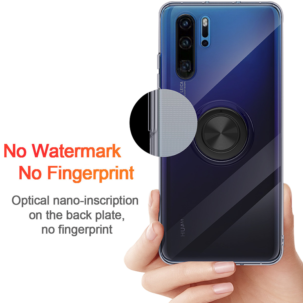 Details about For Huawei P30 P20 Lite Pro Mate 20 X Lite Pro Magnetic Ring  Holder Stand Case