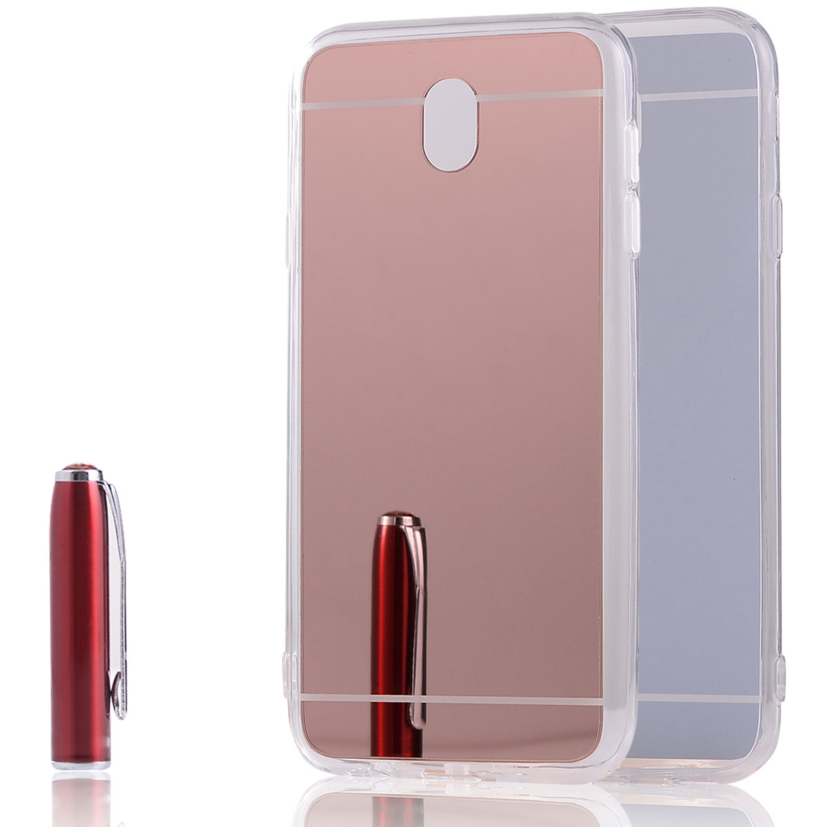 Ultra thin tpu mirror phone case cover skin for samsung for Phone mirror