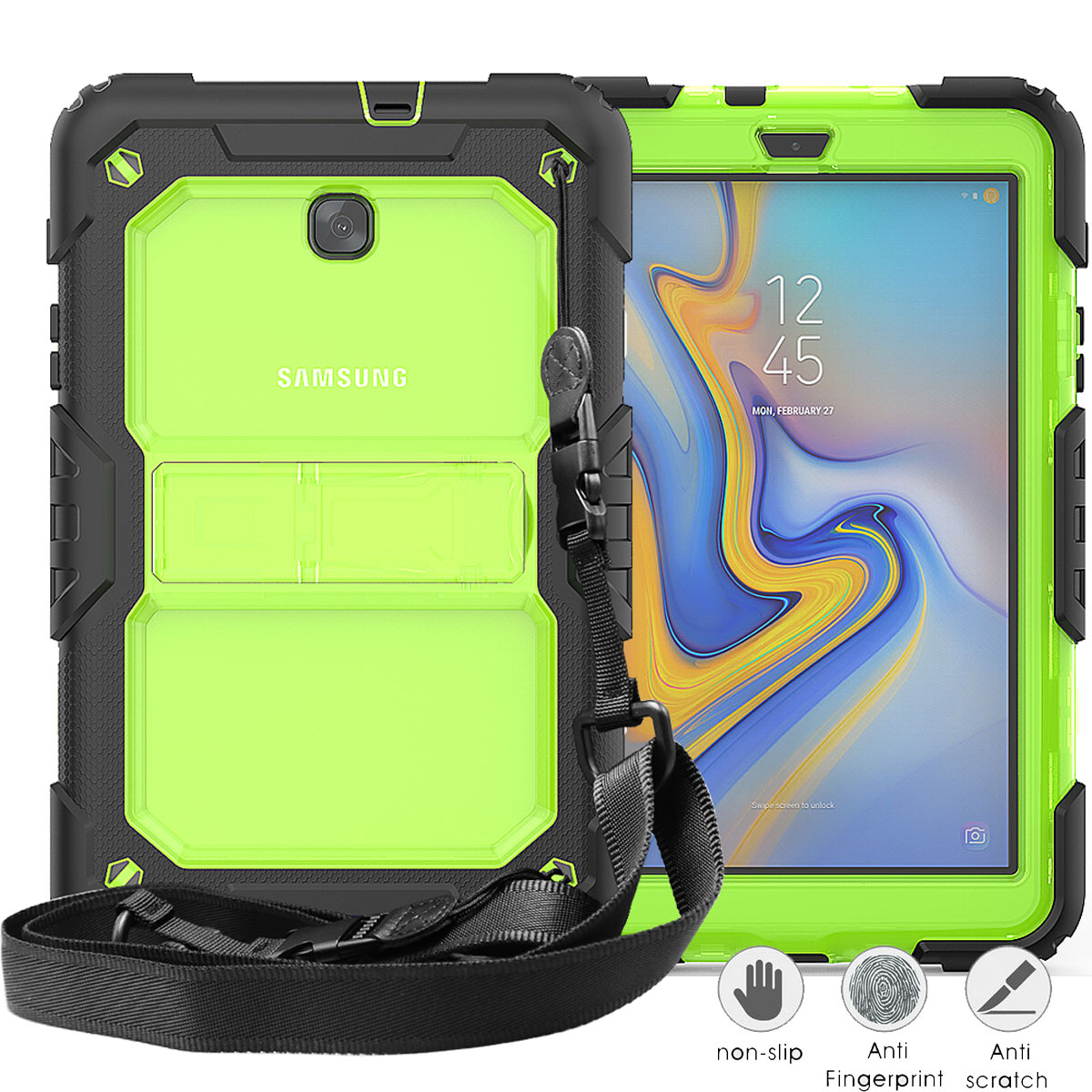 Cistor Shockproof Anti-Fall Case for Huawei P20 Lite,Anti-scratch Protective Bumper Cover for Huawei P20 Lite,Mint Green Pure Colour Stylish Ultra Thin Hard PC Soft TPU Hybrid Dual-Layer Case