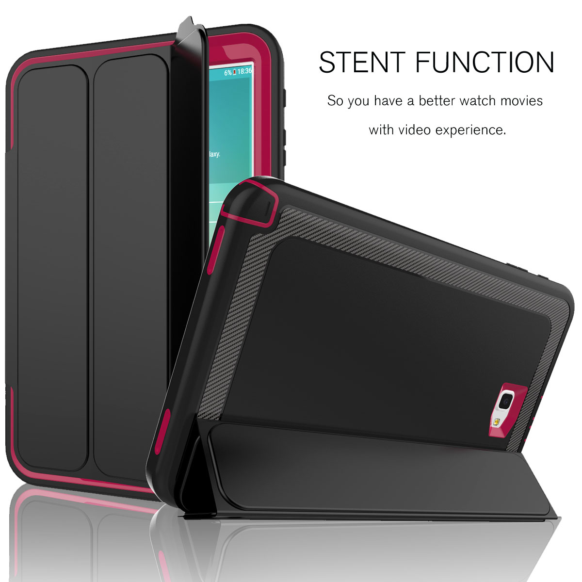 the latest 4a134 98c78 Details about For Samsung Galaxy Tab S3 9.7 T820 Smart Hybrid Shockproof  Stand Hard Case Cover