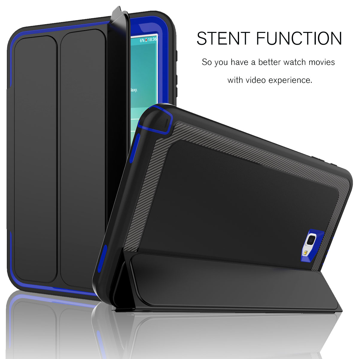 sale retailer 79927 bee64 Details about Heavy Duty Shockproof Smart Cover Case For Samsung Galaxy Tab  A 10.1 SM-T580