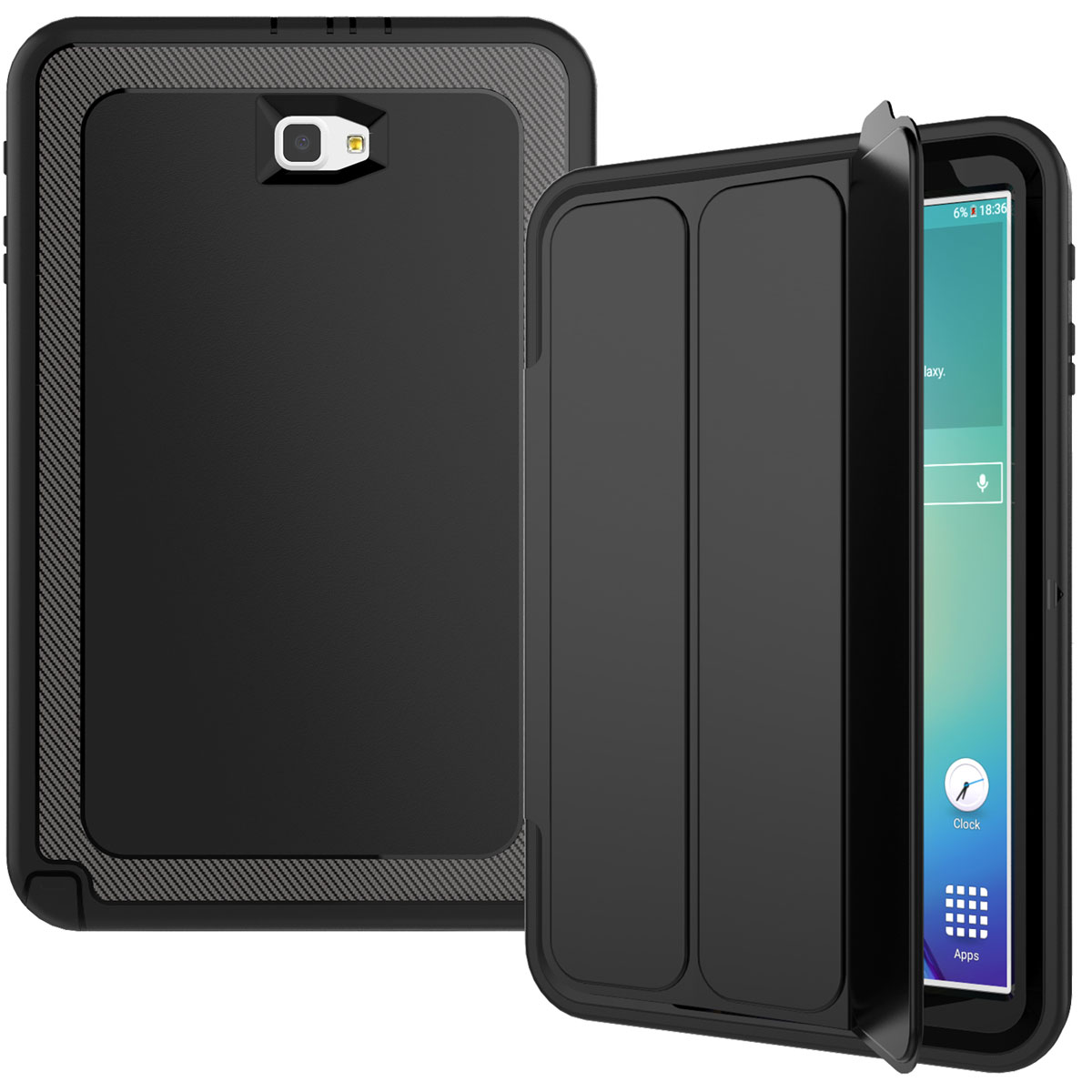 Heavy Duty Shockproof Smart Cover Case For Samsung